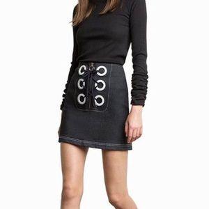 Pixie Market Anton Denim Eyelet Skirt